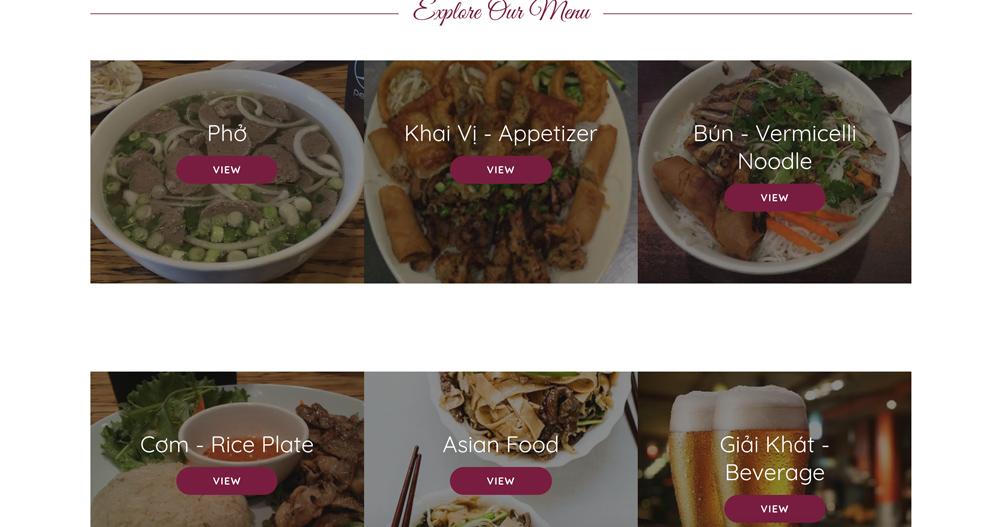 Pho Khang menu