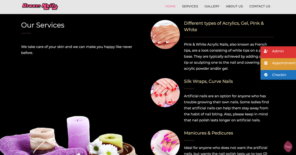 Dream nails services