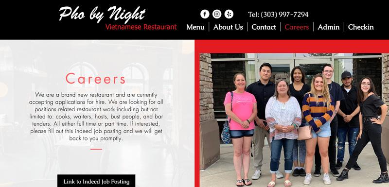 Pho by night careers